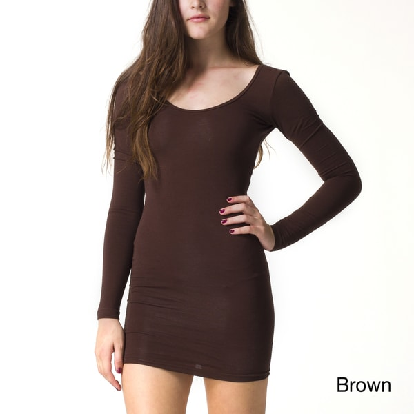 American Apparel Women's Jersey Long Sleeve Mini Dress