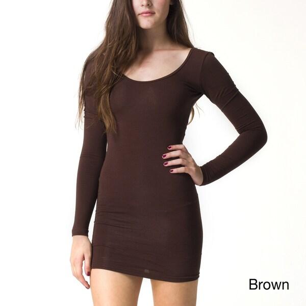 American Apparel Women's Jersey Long Sleeve Mini Dress (As Is Item)