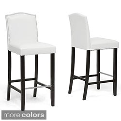 Baxton Studio 'Libra' Modern Bar Stools with Nailhead Trim (Set of 2)