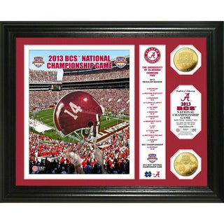 Highland Mint Alabama 2013 'BCS National Championship Game' Gold Coin Banner Photomint