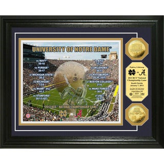 Highland Mint Notre Dame 2013 'BCS National Championship Game' Gold Coin Photomint