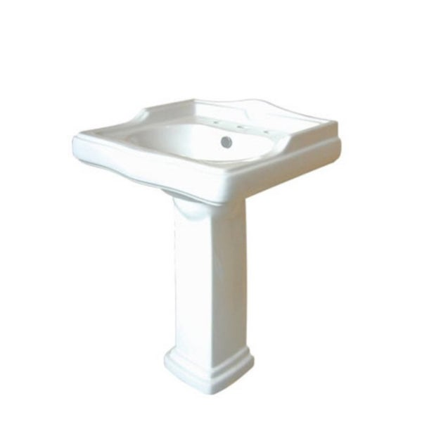 24 Inch Pedestal Sink : ... 32-inch for 8-inch Centers Wall Mount Pedestal Bathroom Sink Vanity