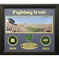 Encore Select Notre Dame Print with Actual Authentic Pieces from Stadium (20x24)