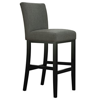 Portfolio Orion Charcoal Gray Linen Upholstered 29-inch Bar Stool