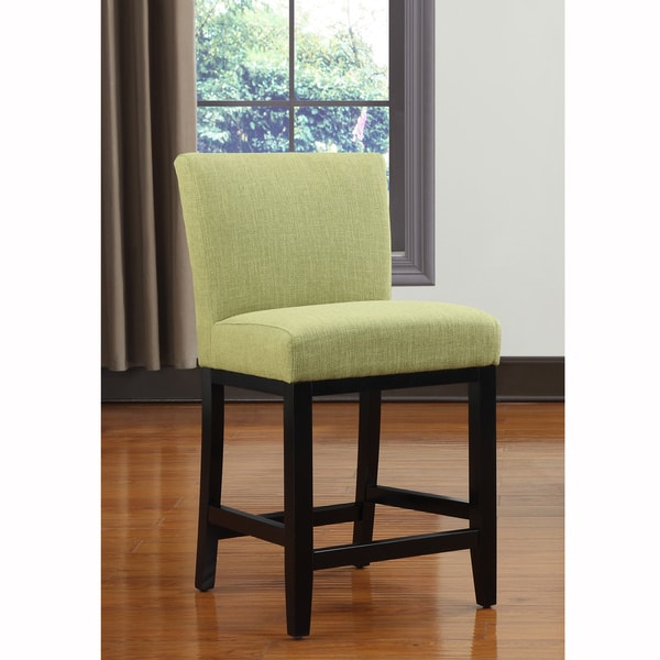 Portfolio Orion Apple Green Linen Upholstered 23-inch Bar Stool