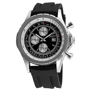 Akribos XXIV Men's Multifunction Rubber Strap Watch