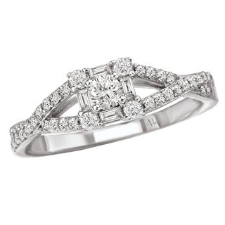 14k White Gold 1/2ct TDW Diamond Engagement Ring (G-H, SI1-SI2)