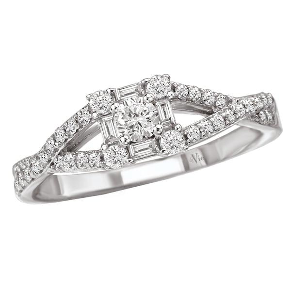 Avanti 14k White Gold 1/2ct TDW Diamond Engagement Ring (G-H, SI1-SI2)
