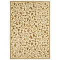 Handmade Cream Wool Rug (8' x 10')