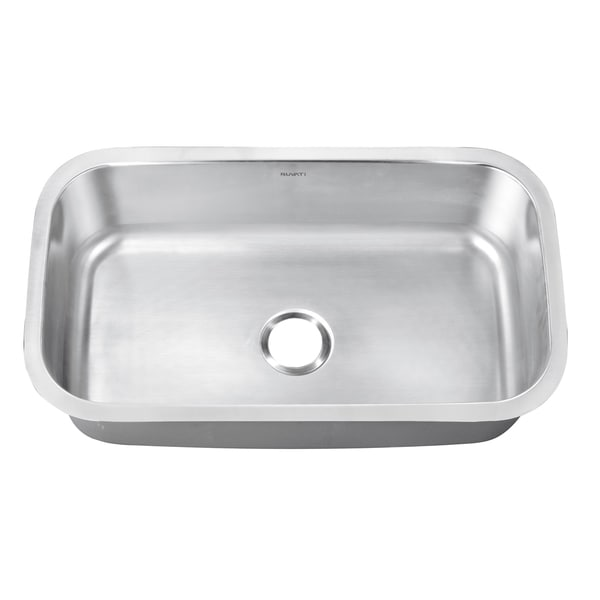 ... 16-gauge Stainless Steel 30-inch Single Bowl Undermount Kitchen Sink