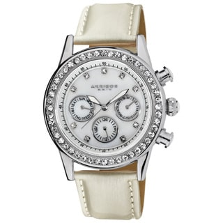 Akribos XXIV Women's Multifunction Dazzling Strap Watch