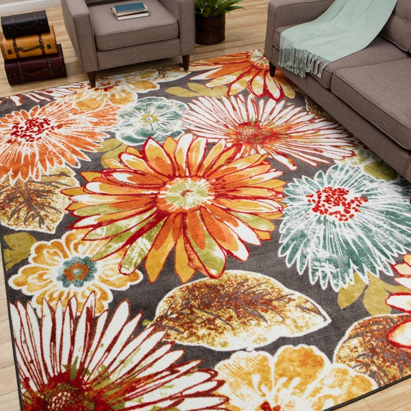 Mohawk Home Mandie Floral Multi Area Rug (5' x 8')