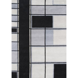 Alliyah Handmade Steel Grey New Zealand Blend Wool Rug (5' x 8')
