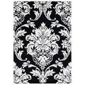 Alliyah Handmade Black New Zealand Blend Wool Rug(9' x 12')