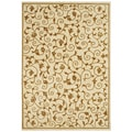 Handmade Cream Wool Rug (5' x 8')