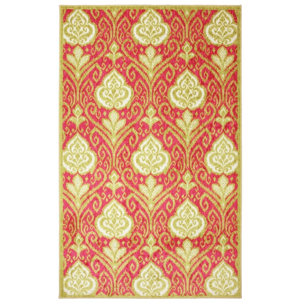 Hot Pink Ikat Area Rug