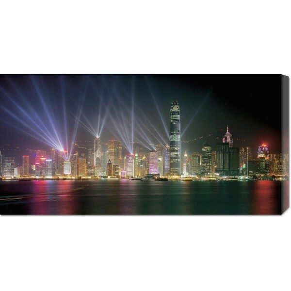 Chan Yat Nin 'Symphony of Lights, Hong Kong' Stretched Canvas