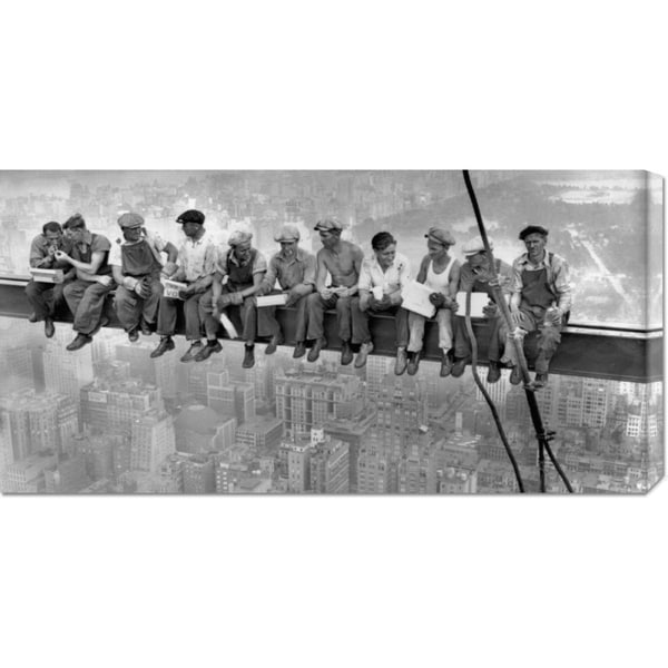 Charles C. Ebbets 'New York Construction Workers Lunching on a Crossbeam, 1932' Stretched Canvas