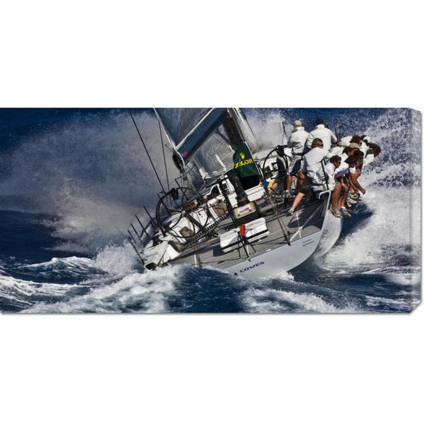 Carlo Borlenghi 'Maxi Yacht sailing' Stretched Canvas