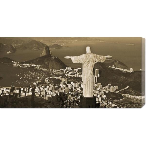 Danny Lehman 'Overlooking Rio de Janeiro' Stretched Canvas