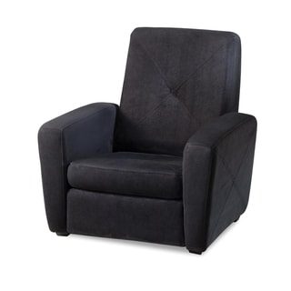 Black Microfiber Foldable Gaming Chair