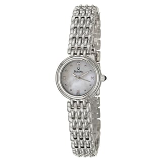 Bulova Elegant Women's 'Diamonds' Stainless-Steel Watch