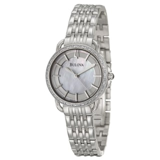 Bulova Women's 'Diamonds' Stainless Steel Watch
