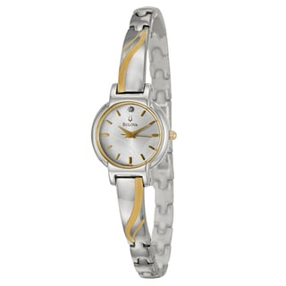 Bulova Women's 98P132 Silver Stainless-Steel Quartz Watch with Silver Dial