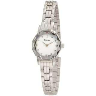 Bulova Women's 'Dress' Stainless Steel/ Mother of Pearl Watch