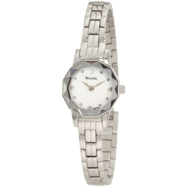 Bulova Women's 96P129 'Dress' Stainless Steel/ Mother of Pearl Watch