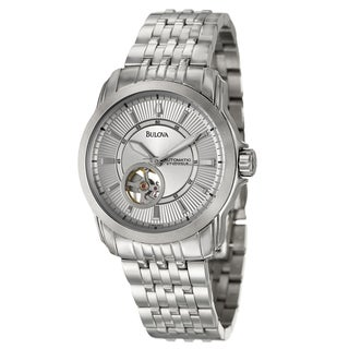 Bulova Men's 'Mechanical' Stainless Steel Watch