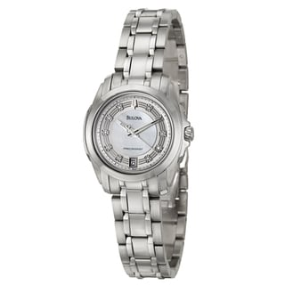 Bulova Women's 'Precisionist' Stainless Steel Diamond-accent Watch