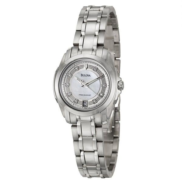 Bulova Women's 96P115 'Precisionist' Stainless Steel Diamond-Accent Watch