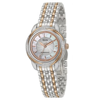 Bulova Women's 'Precisionist' Stainless Steel/ Rose Gold-plated Watch