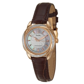 Bulova Women's 'Precisionist' Rose Gold-plated Stainless Steel Watch