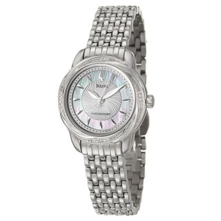 Bulova Women's 'Precisionist' Stainless Steel/ Diamond Bezel Watch