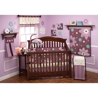 NoJo Plum Dandy 12-piece Crib Bedding Set