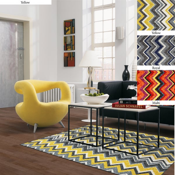 Mohawk Home Ziggy Chevron Area Rug (5' x 8')