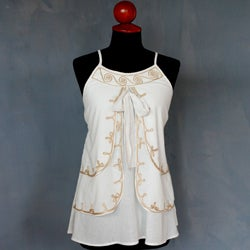 Cotton 'Waves' Blouse (Thailand)