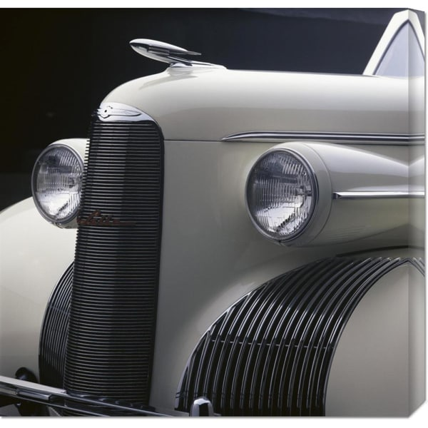 Peter Harholdt 'Detail of 1939 La Salle Convertible' Stretched Canvas Art