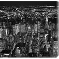 Cameron Davidson 'Night aerial view of midtown Manhattan' Stretched Canvas Art