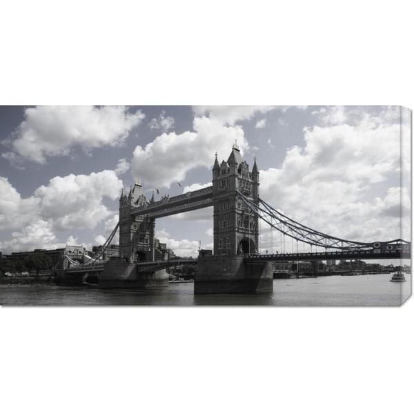 Derek James Seaward 'Tower Bridge, London' Stretched Canvas Art