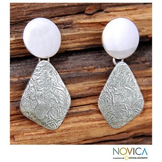 Sterling Silver 'Lustrous' Earrings (Mexico)