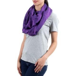 Cotton 'Purple Infinity' Circular Scarf (Guatemala)