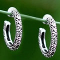 Sterling Silver 'Cloud Hoop' Earrings (Indonesia)
