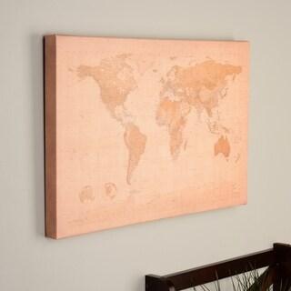 Michael Tompsett 'Antique World Map' Canvas Art