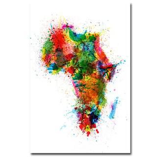 Michael Tompsett 'Africa - Paint Splashes' Canvas Art
