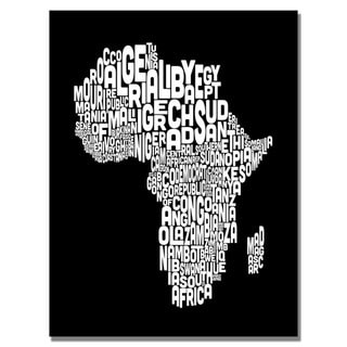 Michael Tompsett 'Africa Font Map' Canvas Art