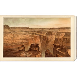William Henry Holmes 'Grand Canyon - Foot of the Toroweap looking East, 1882' Stretched Canvas Art