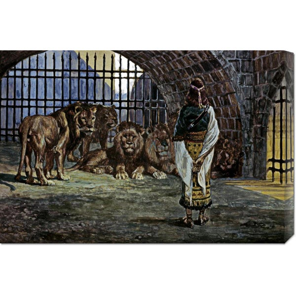 James Tissot 'Daniel in the Lions Den' Stretched Canvas Art